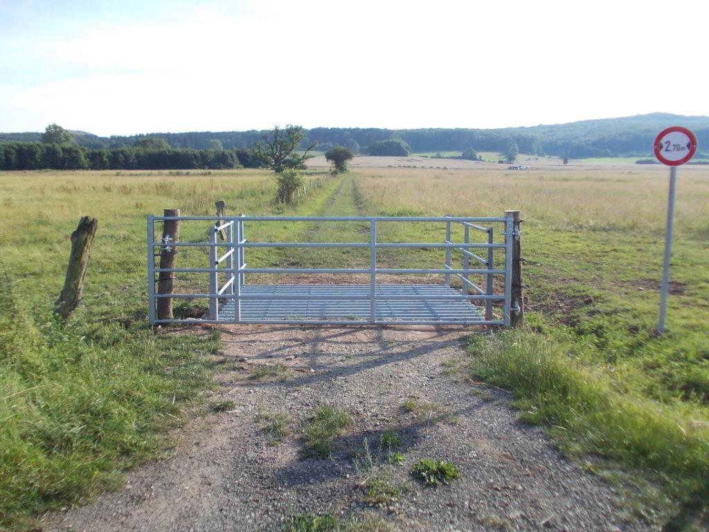 Viehgitter cattle grid Wilhelmsthal Ehrsten