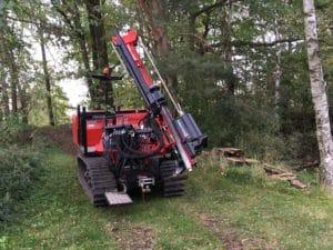 Rammservice. Ramme für den Zaunbau auf Golfplätzen. Zaunbau Bielefeld