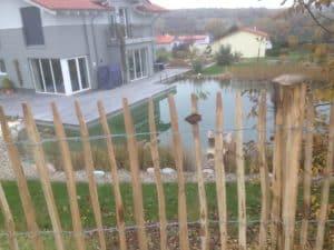 Hund Kind lauf nicht weg Zaun