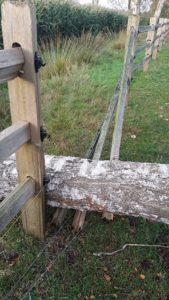 Sturmschadenbeseitigung Farmland Elektrozaun