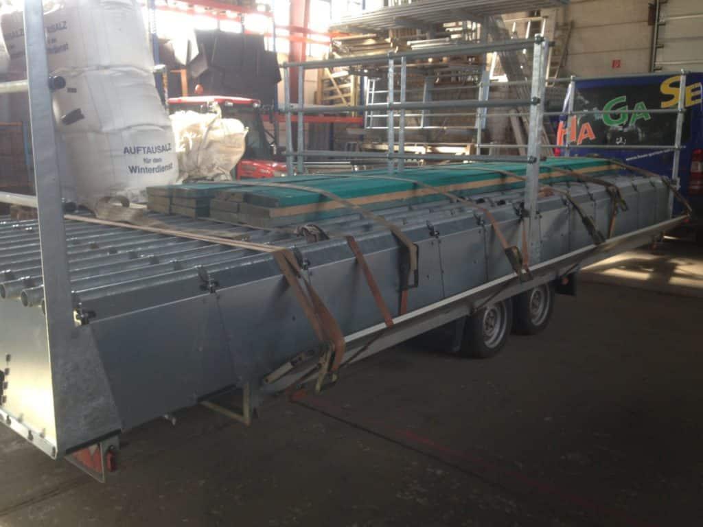 Weiderosten Transport mit PKW