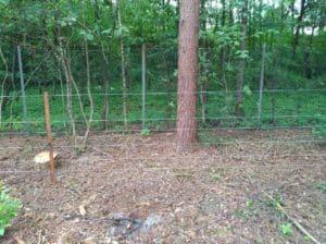 Wildschweinzaun Wildschweinschutzzaun Sicherung einer Gartenanlage gegen Wildschweine in OWL