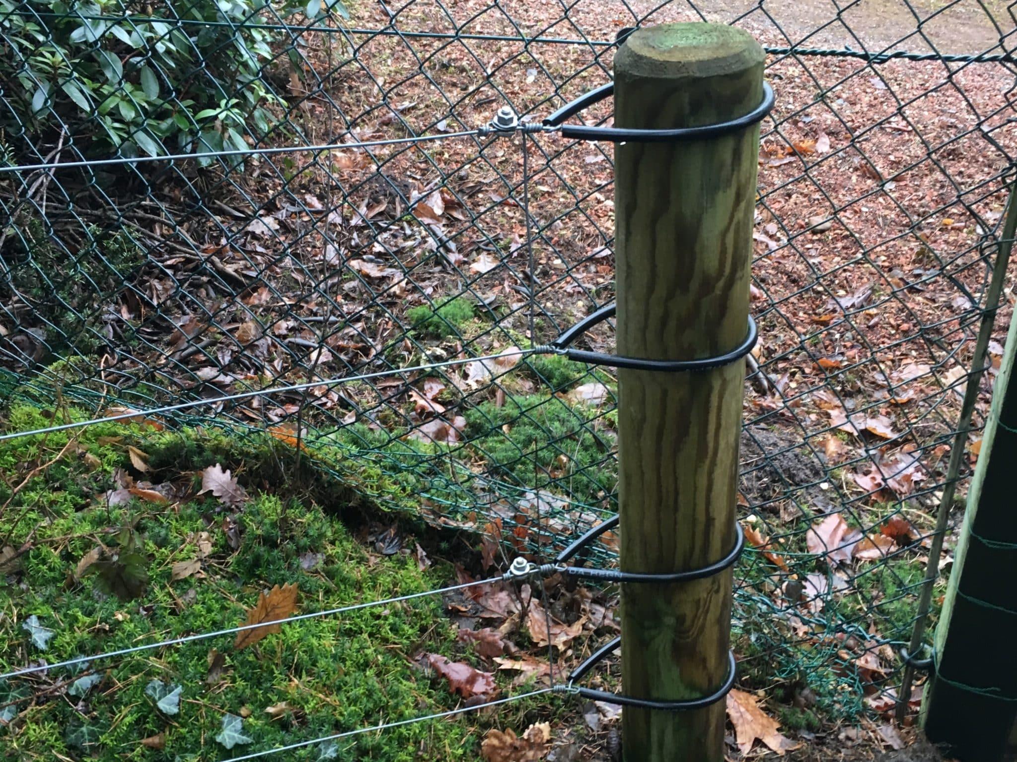 Wildschweinzaun Wildschweinschutzzaun Elektrozaun Nachrüstung eines Wildschweinschutzzaunes