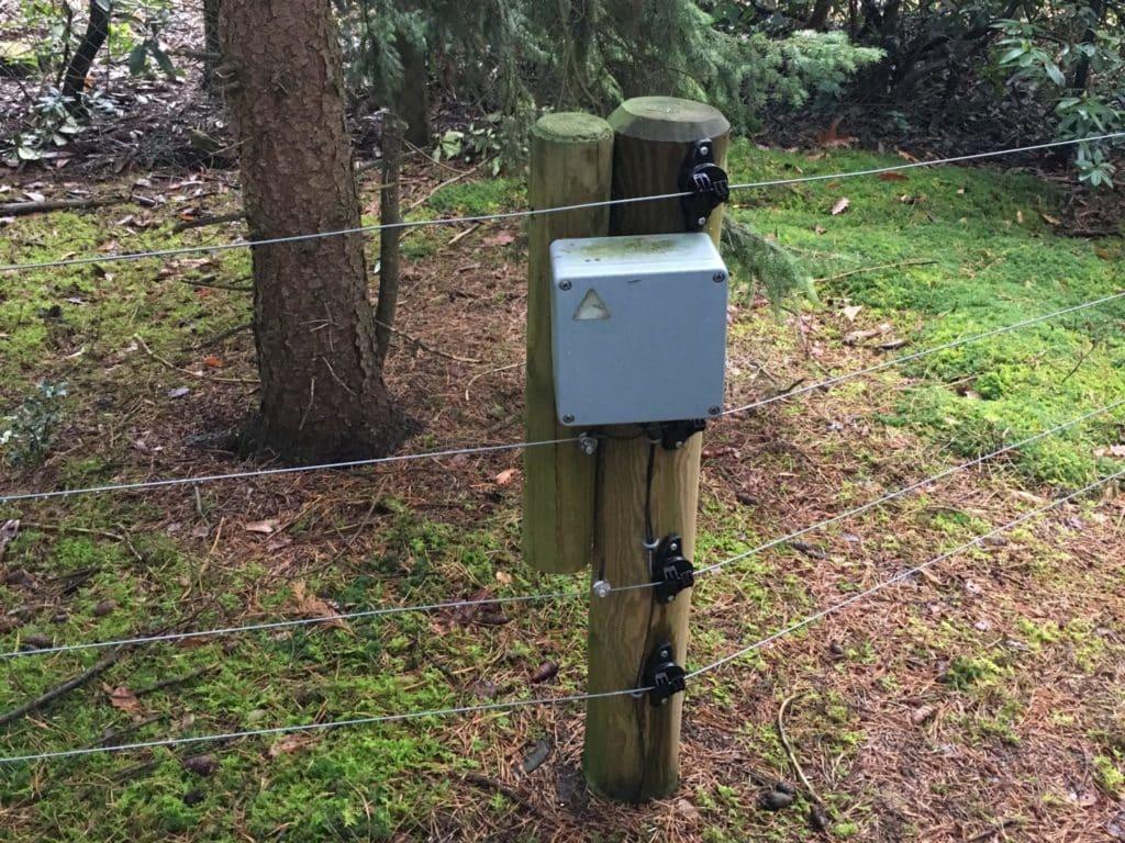 Wildschweinzaun Wildschweinschutzzaun SMS Alarm am Elektrozaun