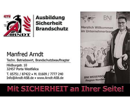 Manfred Arndt - Techn. Betriebswirt, Brandschutzbeauftragter