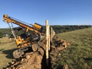schwierige Bodenverhältnisse am Fichtelberg Zaunbau Axel F