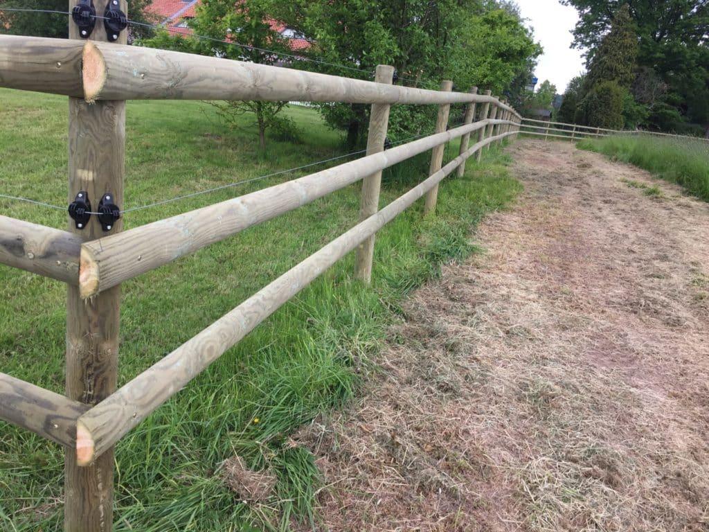 Weideeinzäunung mit Draht für Pferde