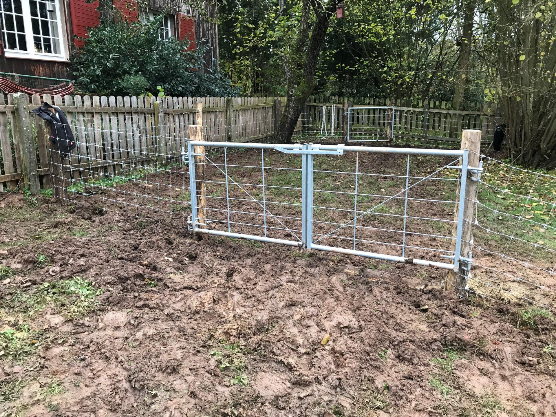 ASP Schweinepest Zaunmaterial Untergrabschutz Schweinehaltung Freiland