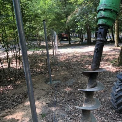 Wildgehege Tierpark Waschbärgehege Metallpfosten Supernet High tensile Stahl Zaunbau