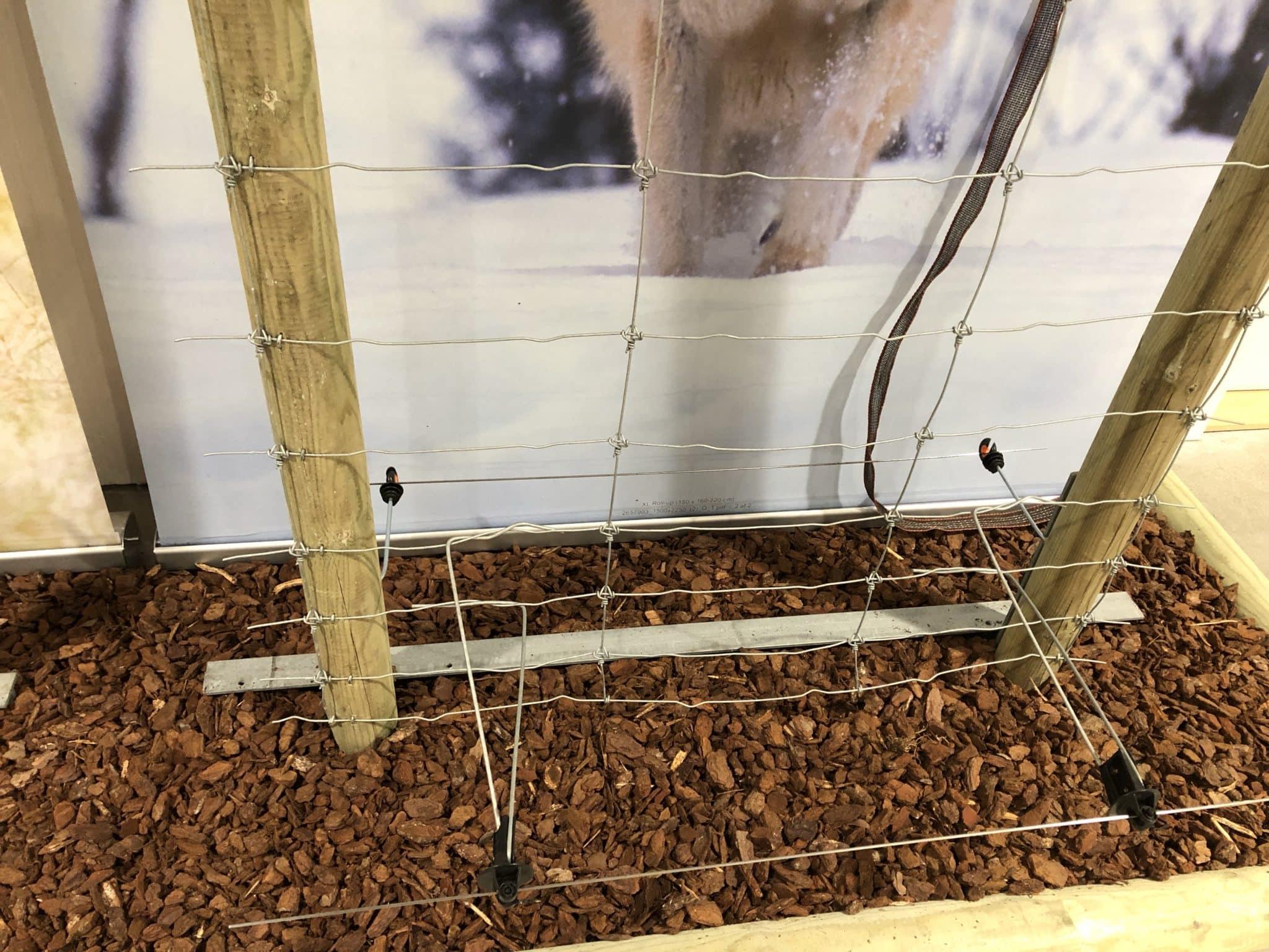 elektrischer Untergrabschutz Wolfschuzzaun