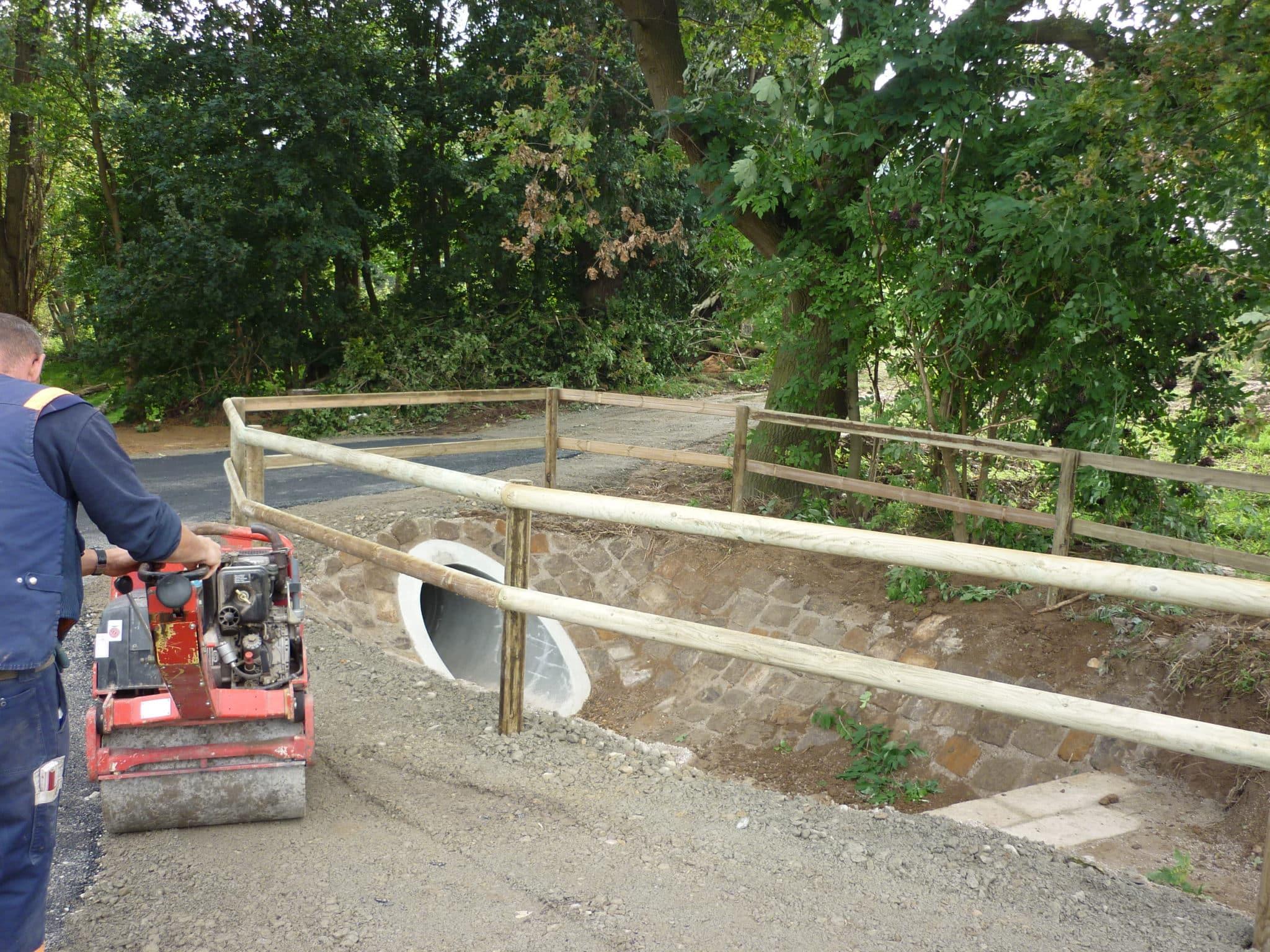 Parkplatzzäune Geländer Wegesicherung