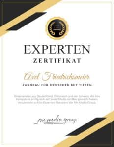 Expertenzertifikat